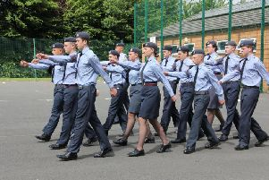 Kenilworth Air Cadets marching