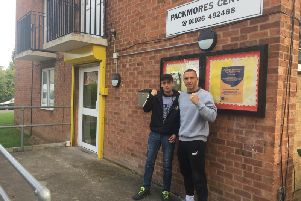 Former boxer turned boxing coach Matthew Wilkins (left) has organised a mental health awareness event at the Packmore's Community Centre in Warwick as part of his work with the Academy of Hard Knocks. His friend Michael Blackstock (right), who is aiming to make his comeback as a professional boxer, will give a talk at the event.
