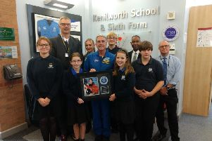 Kenilworth School students with retired American astronaut Dr Don Thomas