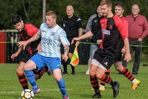 Connoll Farrell returned to the starting line-up and scored a hat-trick for Coventry Plumbing.