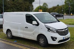 The van which failed to stop for police. Photo by OPU Warwickshire