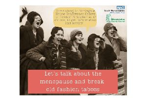 The menopause event poster by South Warwickshire NHS Trust and Warwickshire County Council.