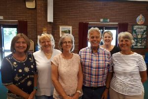 Cllr Chris Mills (Kineton) and his wife Sue and volunteers from charity, The Graham Fulford Charitable Trus, who carried out the screening