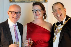 Catherine Cook with MP Matt Western and Warwick Mayor Neale Murphy. Photo submitted.