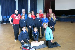 Students who went through the CPR training at Kenilworth School