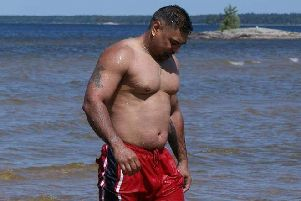 Sangha before he ditched the junk food.
