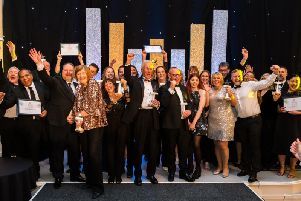 The winners of the Leamington Business Awards 2019. Photo by Sally Evans Photography.