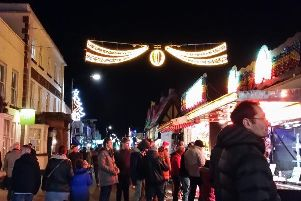 Christmas Lights switch-on in town centre of Kenilworth