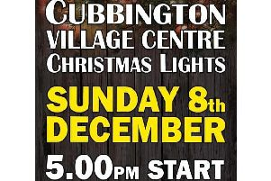 Cubbington Christmas lights switch-on poster