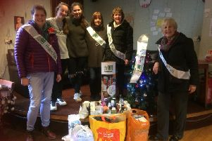 Members of the Hatton Park WI recently donated items to the LWS Night Shelter in Leamington. Photo submitted.