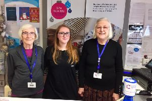 Volunteer Elsie Davies, shop manager Emma Thornett and volunteer Christine Jones at the Cancer Research UK charity shop in Kenilworth.