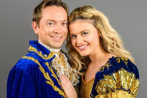 Paige Phelps and Kevin Wing play Princess Marina and Prince Frederick