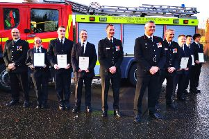 The new recruits at the Kenilworth Fire Station