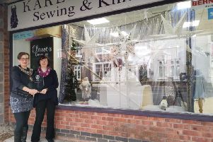 Kenilworth Mayor Alison Firth and Karen Delahunty Sewing & Knitting Centre
