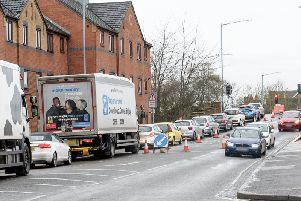 The roadworks in Emscote Road are causing long tailbacks and delays.