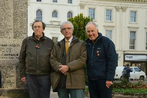 Barry Franklin (left), Richard King (centre) and Allan Jennings (right) of the Leamington History Group