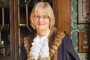 Heather Calver during her time as Leamington Mayor