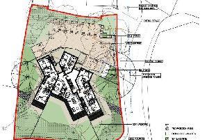 Drawing of proposed plans to turn a house into seven apartments