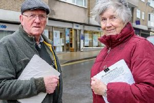 Alan and Margo Skillicorn set up a petition objecting to the TSB closure in Warwick