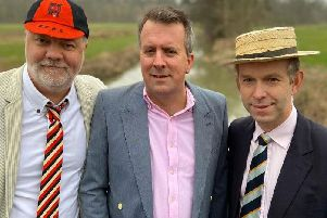 Pictured, left to right: Jonathan Davies, William Dockar -Drysdale and David Williams, who are rowing from Oxford to London to raise funds for Shipston Home Nursing