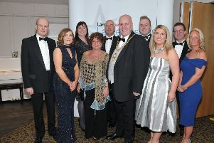 Representatives of Mid and East Antrim Borough Council, principal sponsor of the 2018 Larne Business Awards . INLT 19-22OTHER9-AM