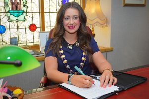 Lindsay Millar, Mayor of Mid and East Antrim, recently completed a masters degree in communications, PR and advertising.