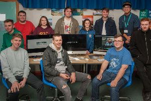 Northern Regional Students from Ballymena and Newtownabbey who worked together to produce the video.