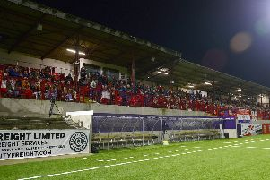 Larne fans praised for Boxing Day atmosphere