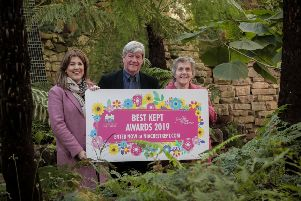Launching the Best Kept from left, is Michelle Hatfield, Director of Corporate Services at Belfast City Airport; Joe Mahon, Patron of the NI Amenity Council and Doreen Muskett MBE, President of the NI Amenity Council.