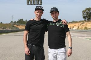 Graeme Irwin pictured with his brother Glenn at the Spanish testing