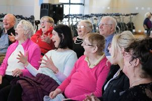 Larne's dementia choir meets weekly.