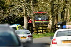 19/4/2018: 'The scene of light aircraft crash which resulted in the death of two men in Co Antrim. Photo by Stephen Hamilton/Presseye