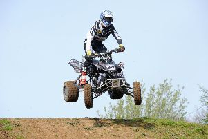 Mark McLernon made a good start to his British quad championship finishing second at Milton Malsor, round one