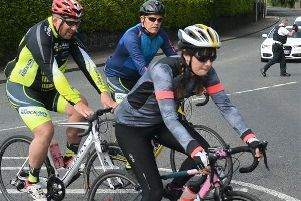 """Setting off on the """"Hilly 100""""."""