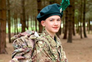 Ready to tackle whatever Camp may throw at him is 12-year-old Cadet Carter Linton from Larne.