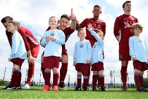 A special day across all ages at the official opening of the 3G pitch and sports hub at Greenisland. Pic by Paul Faith.