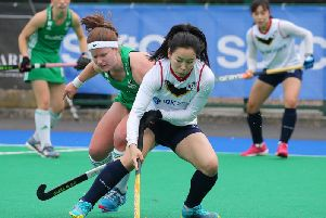 Ireland's Shirley McCay in action against Korea at Banbridge