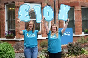 Cancer Focus NI fundraisers Louise Richardson and Alyson Kerr.