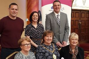 Mayor Maureen Morrow and guests from statutory and voluntary organisations at the MEAAP celebration event