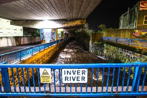 A photograph from the scene where a 14 year-old entered the Inver River in Larne on Tuesday evening - the girl passed away a while later.