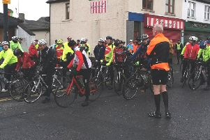 The event attracted 70 cyclists.
