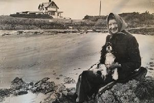 Lady Grylls' mother, Patricia Ford (Lady Fisher), pictured at her home, Portavo Point, which her father Sir Walter Smiles built.