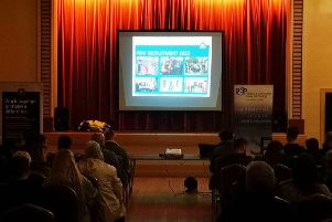 A presentation at Carrick Town Hall on the PSNI recruitment drive.