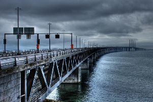 One version of the plan would be modelled on the Oresund Bridge (pictured) in Denmark. (Image by Hans Stolpe from Pixabay)