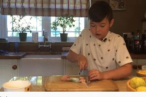 Primary school pupil 'Addycooks'  up a storm on Youtube