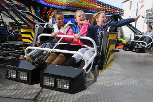 Children enjoying the  Warwick Mop fair