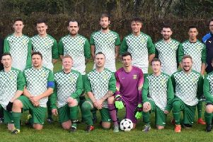 Leamington Hibs christened their new kit, supplied by the Green Man pub in Leamington, by beating Heathcote Athletic 10-0.