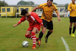 Marc Passey, seen here playing for Southam, grabbed Midland Rangers' consolation in their defeat to Heathcote.