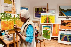 Bryan B Kelly in his studio