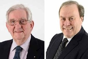Cllr Michael Coker (left) and Cllr John Cooke (right)